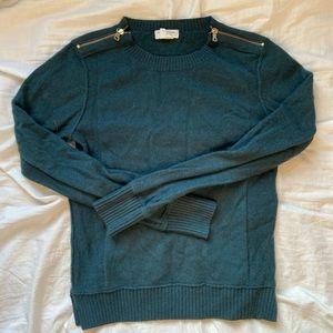 Club Monaco green sweater cashmere